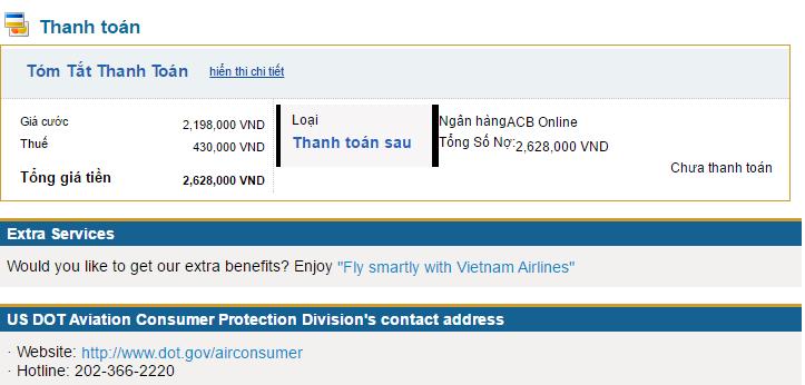 huong dan dat ve may bay vietnamariline 11