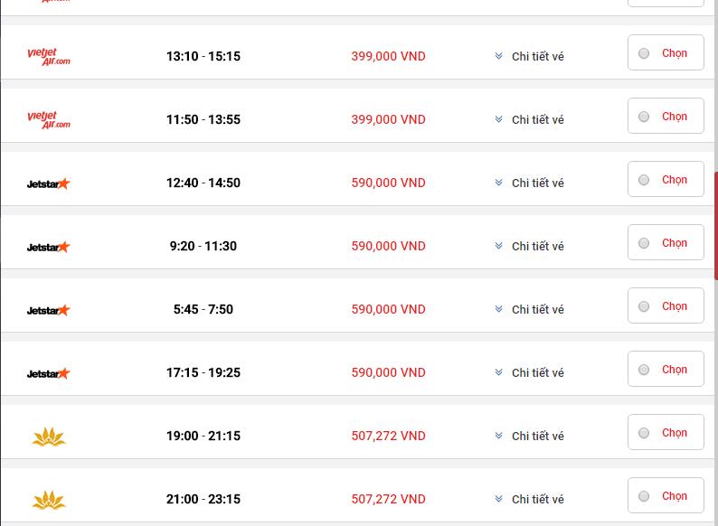 Đặt vé máy bay Tết giá rẻ đi Sài Gòn (HCM) qua mạng