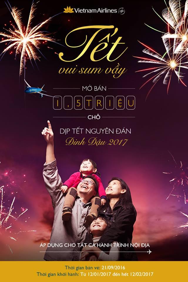 Vietnam Airlines chính thức mở bán vé Tết Nguyến Đán 2017