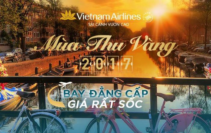 """Vietnam Airlines tung ra đợt Sale khủng vào mùa """"Thu vàng 2017"""""""