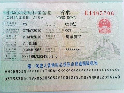 Xin Visa Hong Kong - hồ sơ Visa Hong Kong chi tiết nhất