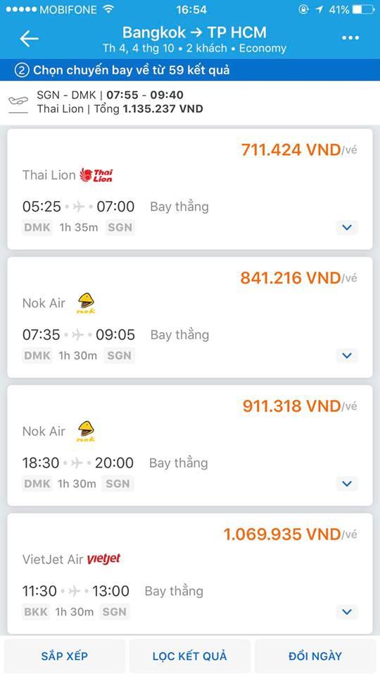 Chia sẻ thông tin đặt vé trên Trave Loka
