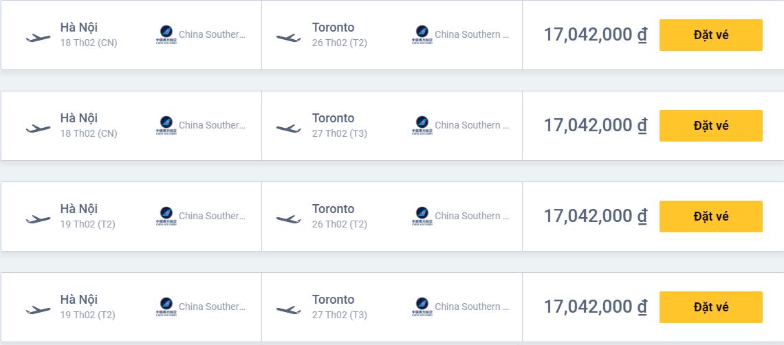 Vé máy bay đi Canada (Vé máy bay Việt Nam đi Canada)