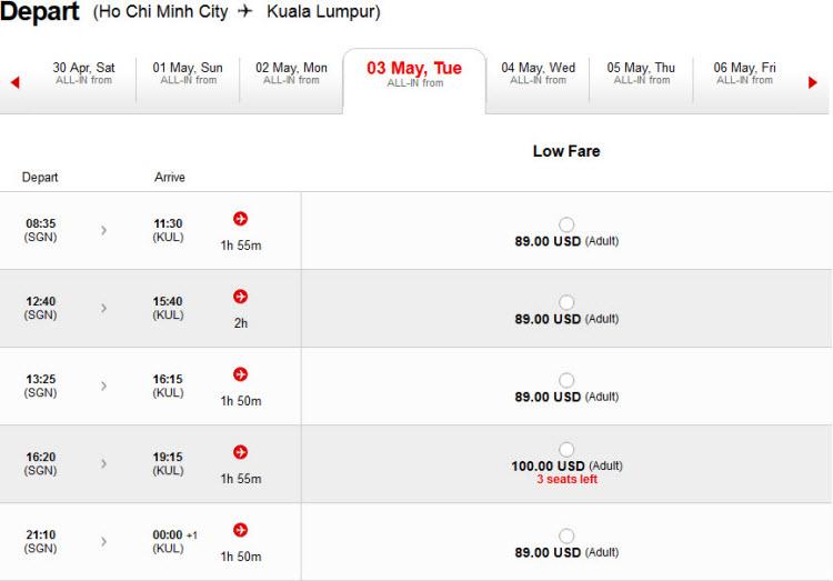 Mẹo tìm vé rẻ AirAsia cả tuần khi hãng tắt tính năng hiển thị giá rẻ