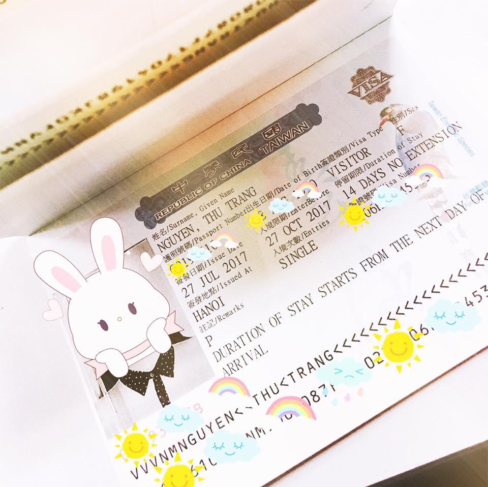 Review kể chuyện đi làm Visa Đài Loan tự túc
