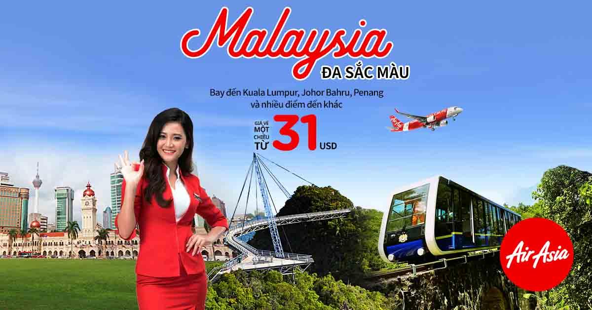 Cùng săn vé máy bay rẻ Malaysia ngay mùa shopping MegaSale 2018