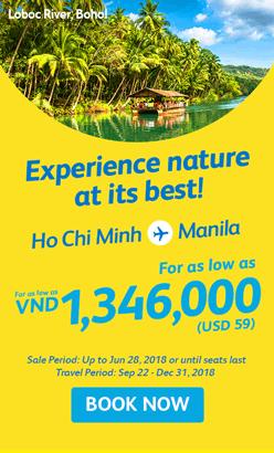 Vé máy bay giá rẻ đi Philippines cuối năm 2018