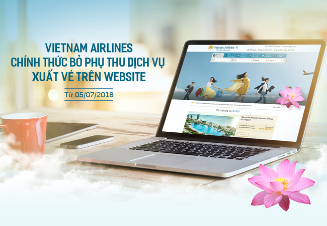 Vietnam Airlines chính thức bỏ phụ thu phí xuất vé (tiết kiệm tới 150.000 đồng)