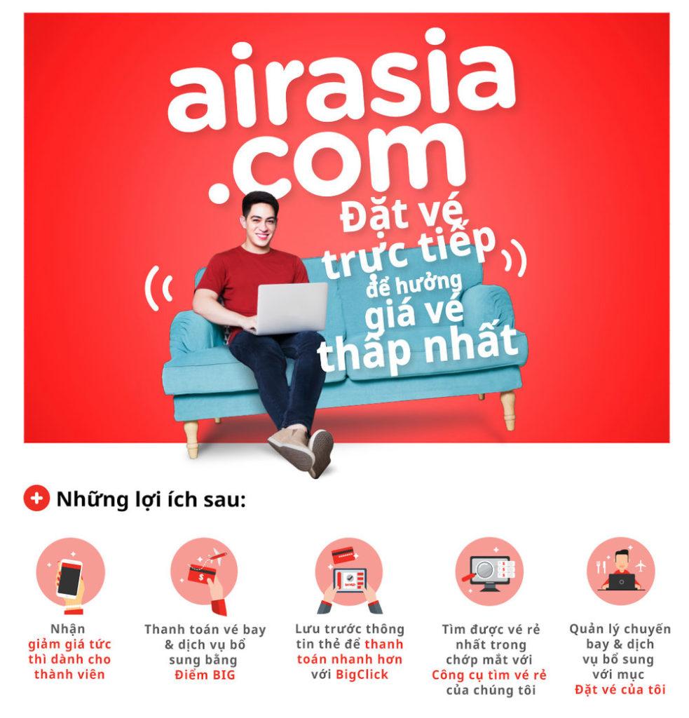 Độc quyền du lịch dành cho thành viên của AirAsia