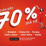 AirAsia giảm 70% giá vé, từ Việt Nam bay khắp muôn nơi